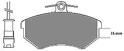 Тормозные колодки MAPCO 6185