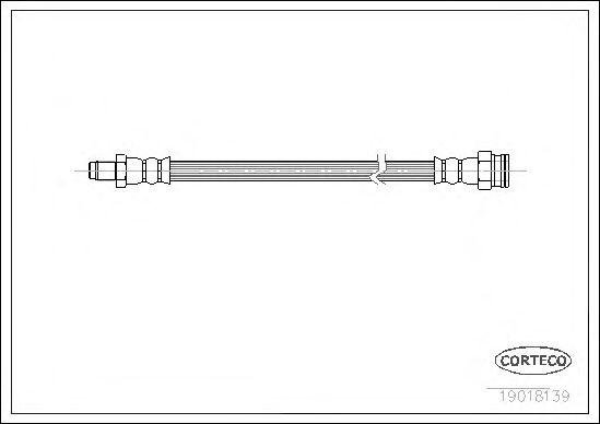 Тормозной шланг CORTECO 19018139
