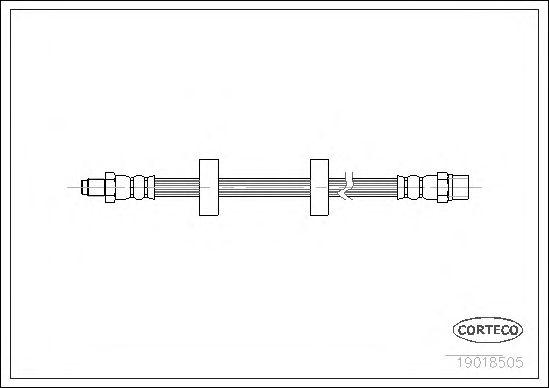 Тормозной шланг CORTECO 19018505