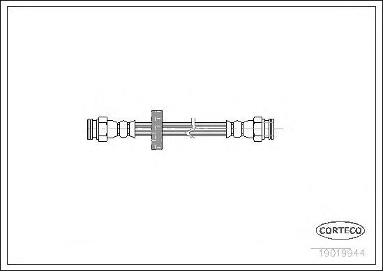 Тормозной шланг CORTECO 19019944