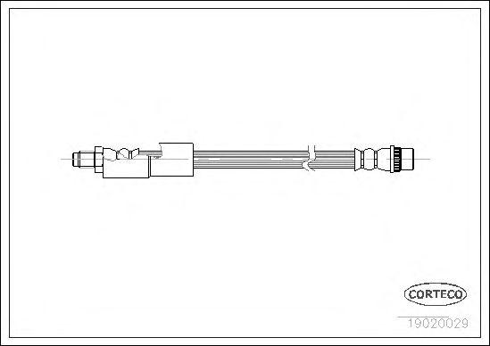 Тормозной шланг CORTECO 19020029