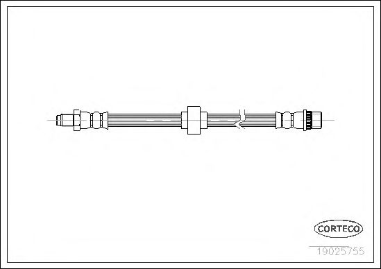 Тормозной шланг CORTECO 19025755