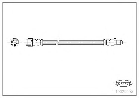 Тормозной шланг CORTECO 19025905