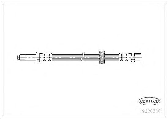Тормозной шланг CORTECO 19026526