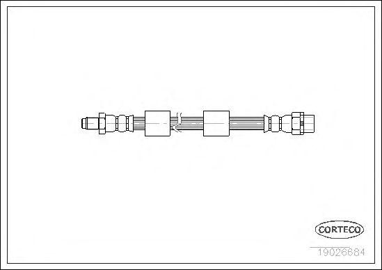 Тормозной шланг CORTECO 19026684