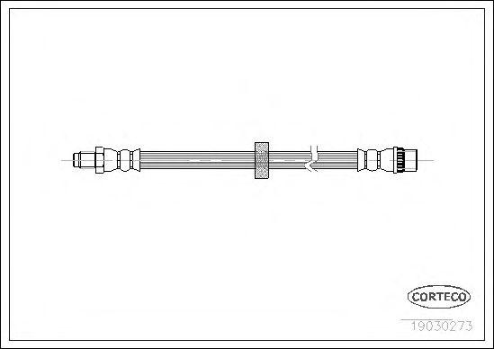 Тормозной шланг CORTECO 19030273