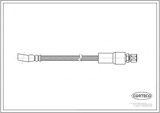 Тормозной шланг CORTECO 19018868