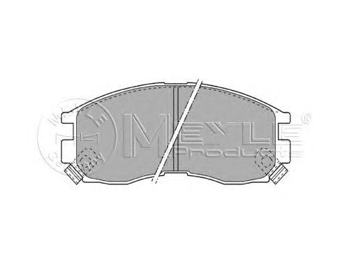 Тормозные колодки MEYLE 025 216 4716/W