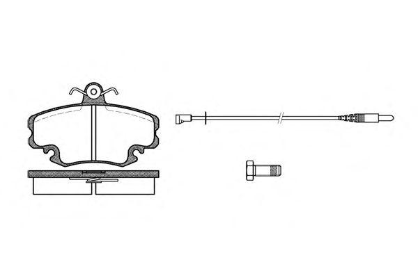 Тормозные колодки REMSA 0141.32