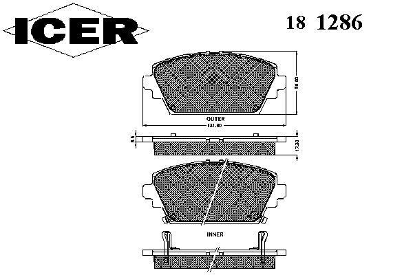 Тормозные колодки ICER 181286