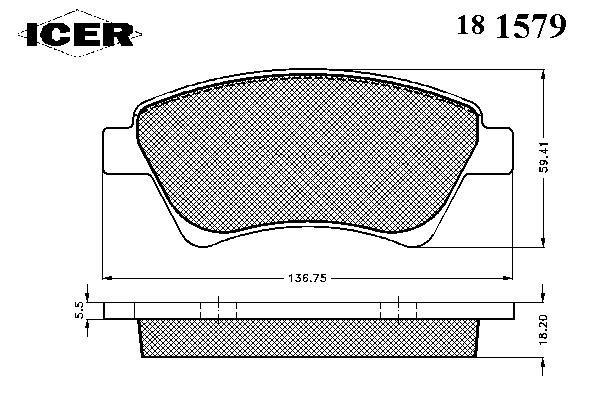 Тормозные колодки ICER 181579