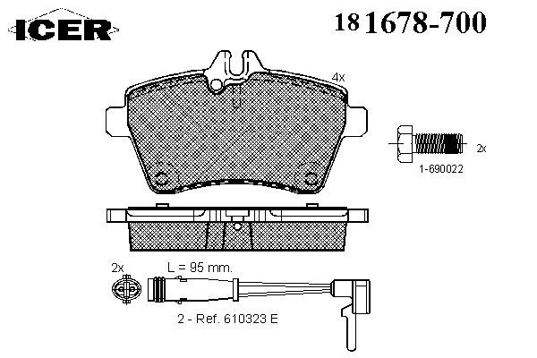 Тормозные колодки ICER 181678-700