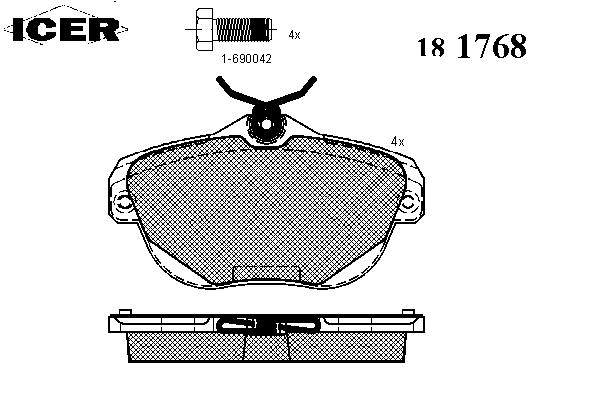 Тормозные колодки ICER 181768