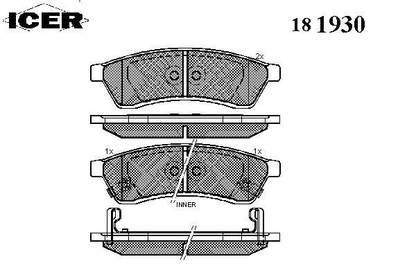 Тормозные колодки ICER 181930
