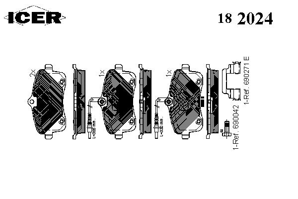 Тормозные колодки ICER 182024