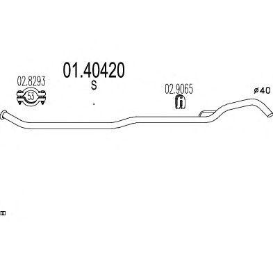 Труба выхлопного газа MTS 01.40420