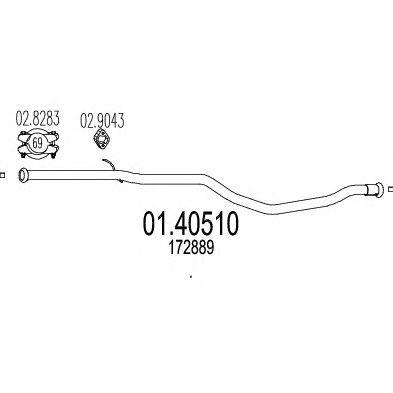 Труба выхлопного газа MTS 01.40510