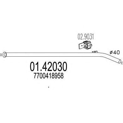 Труба выхлопного газа MTS 01.42030