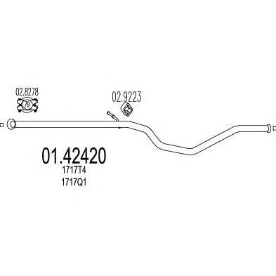 Труба выхлопного газа MTS 01.42420