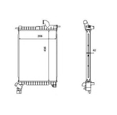 Радиатор, охлаждение двигателя NRF 507527