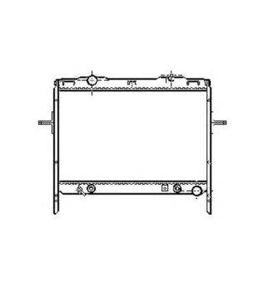 Радиатор, охлаждение двигателя NRF 53369