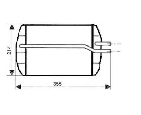 Радиатор отопителя NRF 53633
