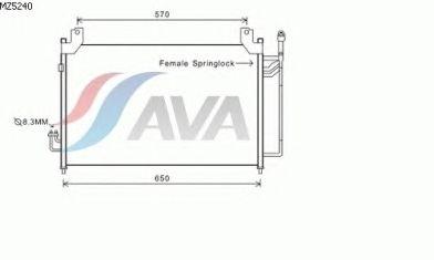 Радиатор кондиционера AVA QUALITY COOLING MZ5240