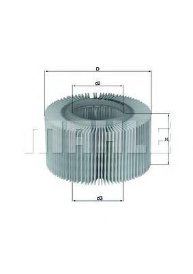 Воздушный фильтр MAHLE ORIGINAL LX 578