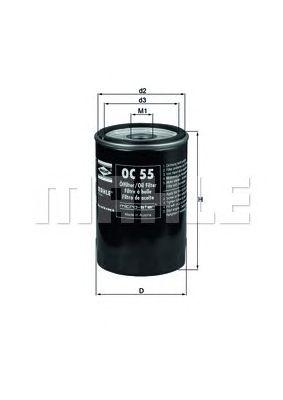 Масляный фильтр MAHLE ORIGINAL OC 55