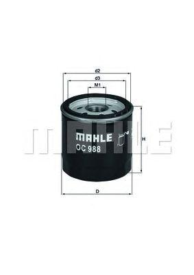 Масляный фильтр MAHLE ORIGINAL OC 988