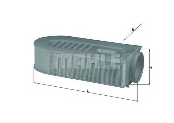 Воздушный фильтр MAHLE ORIGINAL LX 1686/1