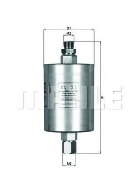 Топливный фильтр MAHLE ORIGINAL KL 21