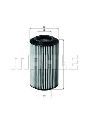Масляный фильтр MAHLE ORIGINAL OX 153/7D2