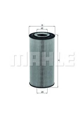 Масляный фильтр MAHLE ORIGINAL OX 123/1D