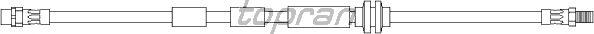 Тормозной шланг TOPRAN 501 127