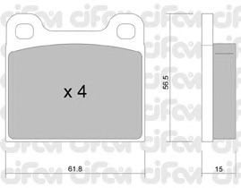 Тормозные колодки CIFAM 822-003-0