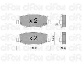 Тормозные колодки CIFAM 822-863-0
