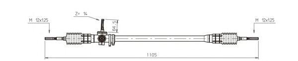 Рулевой механизм GENERAL RICAMBI RV4016