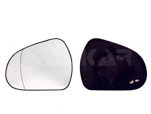 Стекло зеркала заднего вида ALKAR 6431284