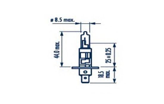Лампа накаливания NARVA 48630 (фара дальнего света, основная фара, противотуманная фара; Лампа накаливания, основная фара, фара с авт. системой стабилизации)