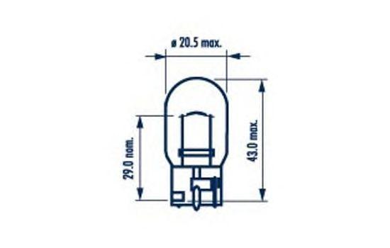 Лампа накаливания, фонарь указателя поворота NARVA 17629