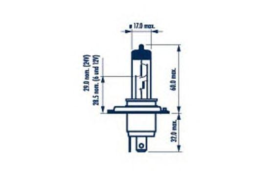 Лампа накаливания NARVA 48861 (фара дальнего света, противотуманная фара)