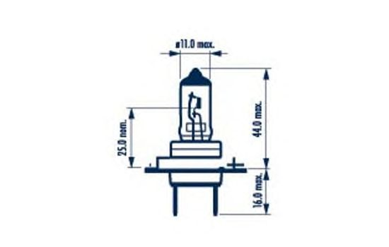 Лампа накаливания NARVA 48329 (фара дальнего света, основная фара, противотуманная фара; Лампа накаливания, основная фара, фара с авт. системой стабилизации)