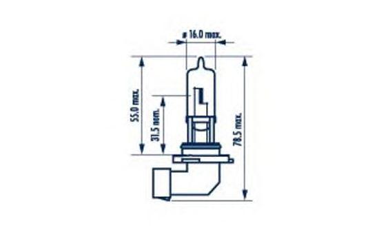 Лампа накаливания NARVA 98655 (фара дальнего света, противотуманная фара)