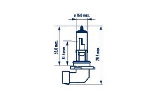 Лампа накаливания NARVA 98656 (фара дальнего света, противотуманная фара)
