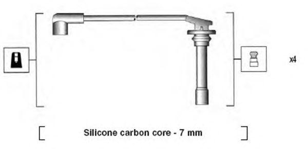 Комплект высоковольтных проводов MAGNETI MARELLI 941255070817