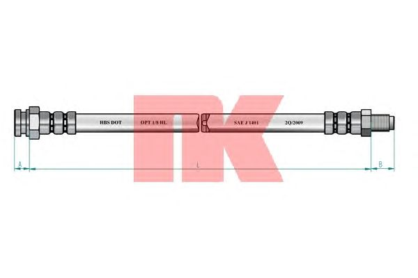 Тормозной шланг NK 851022