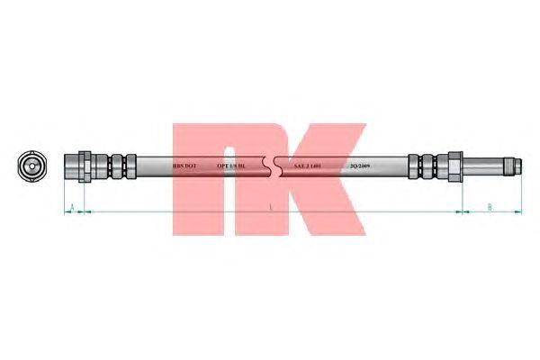 Тормозной шланг NK 853354