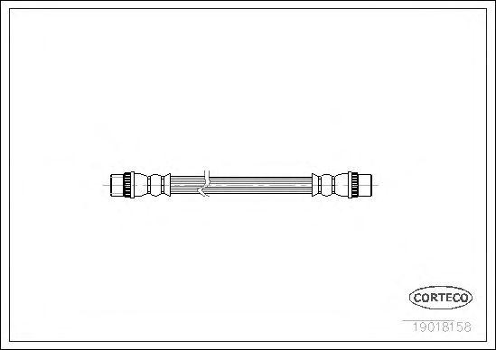 Тормозной шланг CORTECO 19018158