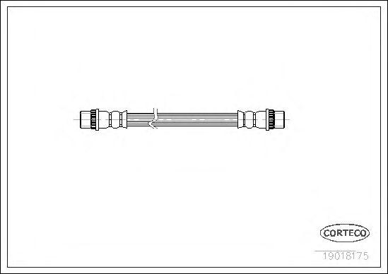 Тормозной шланг CORTECO 19018175
